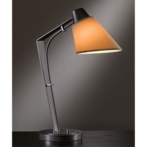 Reach Dark Smoke One-Light Desk Lamp with Doeskin Suede Shade