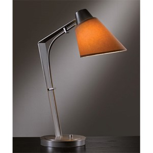 Reach Dark Smoke One-Light Desk Lamp with Terra Suede Shade