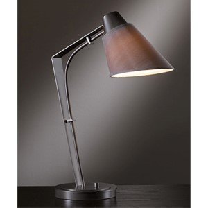 Reach Dark Smoke One-Light Desk Lamp with Eclipse Shade