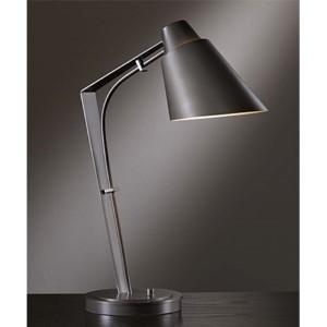 Reach Dark Smoke One-Light Desk Lamp with Metal Shade
