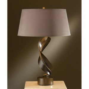 Folio Bronze One-Light Table Lamp with Eclipse Shade