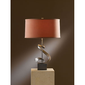 Gallery Dark Smoke 22.9-Inch One Light Table Lamp with Terra Micro-Suede Shade