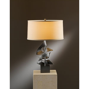 Gallery Dark Smoke One Light Table Lamp with Doeskin Micro-Suede Shade