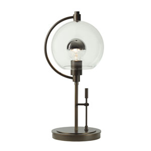 Pluto Bronze One-Light 8-Inch Table Lamp with Clear Glass