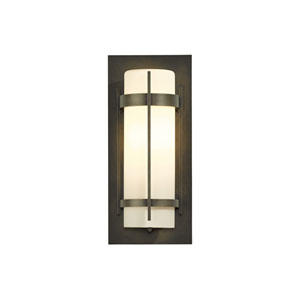 Banded Black 7-Inch One-Light Outdoor Wall Sconce