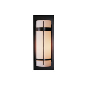 Banded Black 8-Inch One-Light Outdoor Wall Sconce