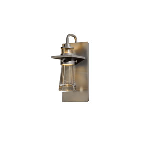 Erlenmeyer Burnished Steel 5-Inch One-Light Outdoor Wall Sconce