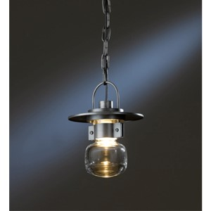 Mason Natural Iron One-Light Small Outdoor Mini-Pendant with Clear Glass