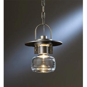 Mason Natural Iron One-Light Medium Outdoor Mini-Pendant with Clear Glass