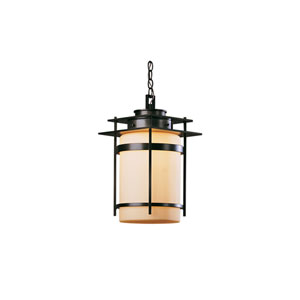 Banded Black 11-Inch One-Light Outdoor Pendant