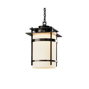 Banded Black 14-Inch One-Light Outdoor Pendant
