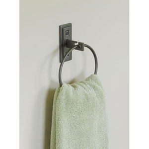 Universal Dark Smoke 7-Inch Ring Towel Holder