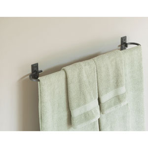 Metra Dark Smoke 29-Inch Towel Bar