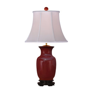 Oxblood Vase Table Lamp