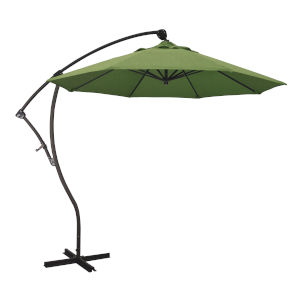 Bayside Bronze with Spectrum Cilantro Nine-Feet Sunbrella Patio Umbrella