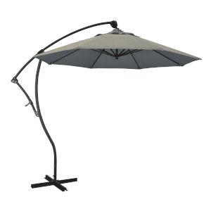 Bayside Bronze with Spectrum Dove Nine-Feet Sunbrella Patio Umbrella