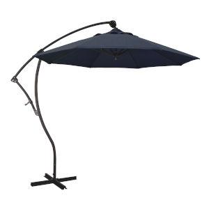 Bayside Bronze with Spectrum Indigo Nine-Feet Sunbrella Patio Umbrella