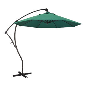 Bayside Bronze with Spectrum Aztec Nine-Feet Sunbrella Patio Umbrella