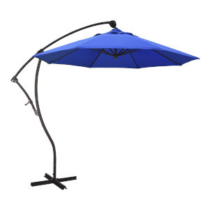 Bayside Bronze with Pacific Blue Nine-Feet Sunbrella Patio Umbrella