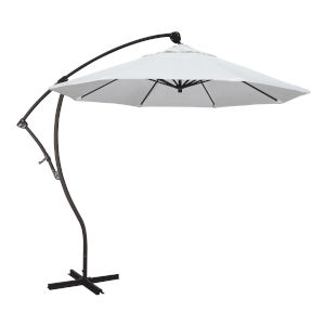 Bayside Bronze with Natural Nine-Feet Sunbrella Patio Umbrella