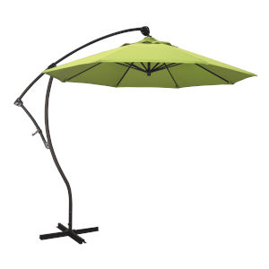 Bayside Bronze with Parrot Nine-Feet Sunbrella Patio Umbrella