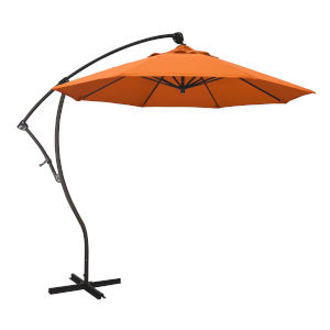 Bayside Bronze with Tangerine Nine-Feet Sunbrella Patio Umbrella