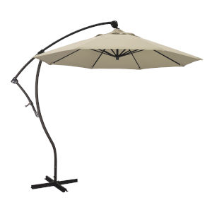 Bayside Bronze with Antique Beige Nine-Feet Sunbrella Patio Umbrella