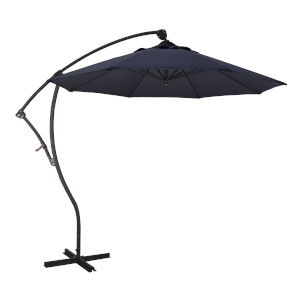 Bayside Bronze with Navy Nine-Feet Sunbrella Patio Umbrella