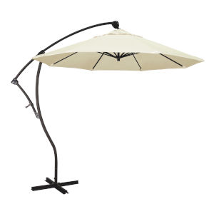Bayside Bronze with Canvas Nine-Feet Sunbrella Patio Umbrella