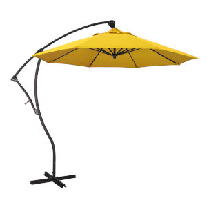Bayside Bronze with Sunflower Yellow Nine-Feet Sunbrella Patio Umbrella