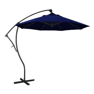 Bayside Bronze with True Blue Nine-Feet Sunbrella Patio Umbrella