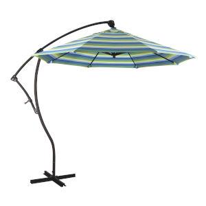 Bayside Bronze with Seville Seaside Nine-Feet Sunbrella Patio Umbrella