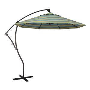 Bayside Bronze with Astoria Lagoon Nine-Feet Sunbrella Patio Umbrella