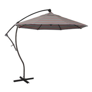 Bayside Bronze with Gateway Blush Nine-Feet Sunbrella Patio Umbrella