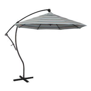 Bayside Bronze with Gateway Mist Nine-Feet Sunbrella Patio Umbrella