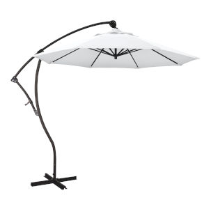 Bayside Bronze with White Nine-Feet Olefin Patio Umbrella