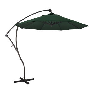 Bayside Bronze with Hunter Green Nine-Feet Olefin Patio Umbrella