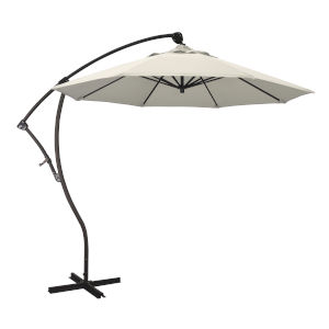 Bayside Bronze with Antique Beige Nine-Feet Olefin Patio Umbrella