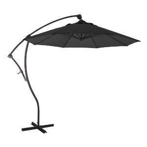 Bayside Bronze with Black Nine-Feet Olefin Patio Umbrella