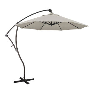 Bayside Bronze with Woven Granite Nine-Feet Olefin Patio Umbrella