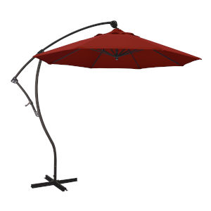 Bayside Bronze with Red Nine-Feet Pacifica Patio Umbrella