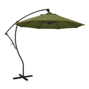 Bayside Bronze with Palm Nine-Feet Pacifica Patio Umbrella