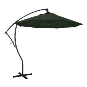 Bayside Bronze with Hunter Green Nine-Feet Pacifica Patio Umbrella