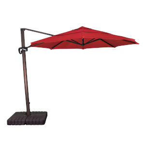 Cali Bronze with Jockey Red 11-Feet Sunbrella Patio Umbrella