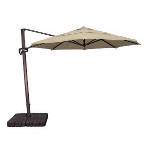 Cali Bronze with Antique Beige 11-Feet Sunbrella Patio Umbrella