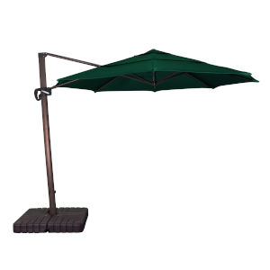 Cali Bronze with Forest Green 11-Feet Sunbrella Patio Umbrella