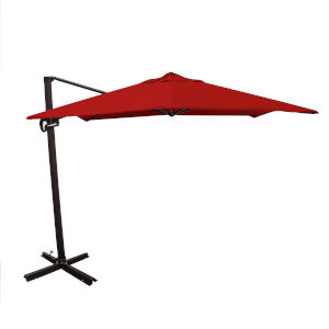 Cali Bronze with Jockey Red 10-Feet Sunbrella Patio Umbrella