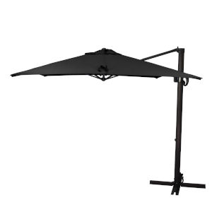 Cali Bronze with Black Nine-Feet Sunbrella Patio Umbrella