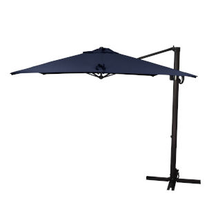Cali Bronze with Navy Nine-Feet Sunbrella Patio Umbrella