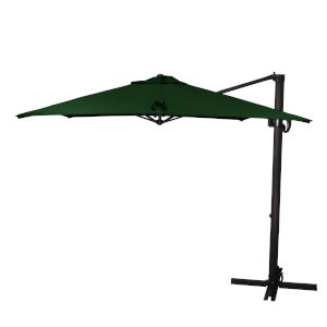 Cali Bronze with Forest Green Nine-Feet Sunbrella Patio Umbrella
